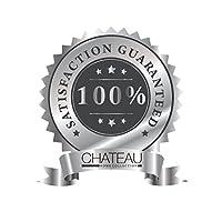 CHATEAU HOME 系列 800 支埃及棉深袋棉缎织床单套装,终极礼物;节日销售 银色 King B01MTIYYQY