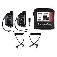 PocketWizard Plus IIIe 收发器套件,增强范围和可靠性一体套件,适用于远程摄影和相机闪光灯(黑色)