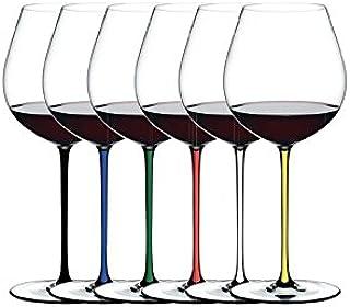Riedel Fatto A Mano Old World 黑比诺(Pinot Noir)礼品套装玻璃酒杯,六件套
