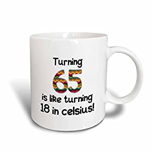 inspirationzstore occasions–Turning 65IS LIKE Turning 46cm celsius–幽默65岁生日礼物–马克杯 白色 15-oz
