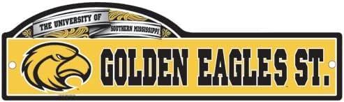 Southern Miss Golden Eagles 官方 NCAA 10.16 厘米 x 43.18 厘米街道标志