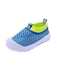 RVROVIC 儿童一脚蹬透气网眼运动鞋夏季沙滩水鞋幼儿/小童