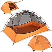 ClostNature 輕型雙人徒步帳篷 - 3 季超輕防水露營帳篷,大尺寸易于安裝帳篷,適合家庭、戶外、徒步和登山