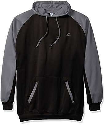 Russell Athletic 男士高大款羊毛连帽运动衫 黑色/炭黑色 4X