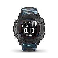 Garmin 佳明 Instinct 太陽能沖浪 – 堅固的 GPS 智能手表,帶沖浪應用程序和太陽能充電功能,可長達 54 天的電池。 卷曲波數和長度,時間,潮汐信息。 運動和*功能