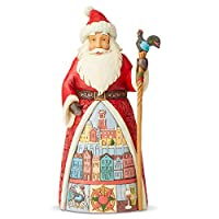 Jim Shore 圣诞 Heartwood Creek 德国圣诞老人雕像 6.75 英寸 6004235