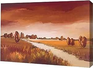 """PrintArt GW-POD-40-GA01_12158-40x28""""Down the river II"""" 由 Hans Paus 创作画廊装裱油画艺术印刷品 30"""" x 21"""" GW-POD-40-GA01_12158-30x21"""
