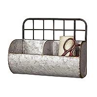 镀锌金属工业分隔壁挂存储 - 装饰架收纳袋