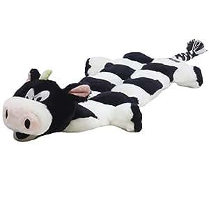 Outward Hound Kyjen 32040 Squeaker Matz Cow 16-Squeaker Plush Squeak Toy Dog Toys, Large, Black