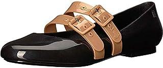 Melissa Vivienne Westwood 女士平底鞋 黑色/米色 9 M US