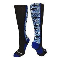 MadSportsStuff 小腿数码迷彩鲨鱼袜