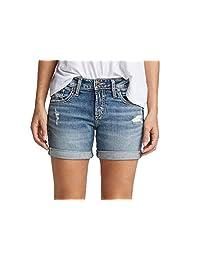 Silver Jeans Co. 女士中腰男友短裤