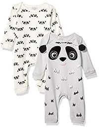 Quiltex 男童熊猫印花可爱新奇连体服 2 件套