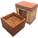 Treasure Secret *拼图盒 - 木质魔术贴锁钱和礼品卡夹,带两个隐藏隔层 Brainteaser 玩具