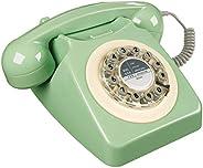 Wild Wood 旋转设计复古座机 家庭电话,瑞典绿色