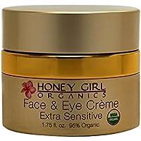 Honey Girl Organics - 有机面孔&奶油色超灵敏 - 1.75盎司 美国直邮