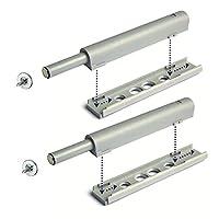 Simon 9083136 推入式适配器板、螺丝、带磁力盖的柜台磁吸门带螺旋板适用于无抓地门和抽屉 2 件装灰色