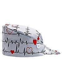 Orthoshoes 葫芦形状工作帽带纽扣吸汗带可调式后系带帽 男女通用