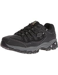 Skechers Sport Men's Afterburn Memory Foam Lace-Up Sneaker,Black/Charcoal,7 M US