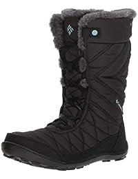Columbia Girls' Youth Minx Mid III WP Omni-Heat High Rise Hiking Boots, Black (Black, Iceberg 010), 4 37 EU