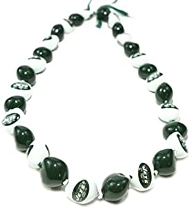 NFL New York Jets Go Nuts Kukui Nut Lei Necklace