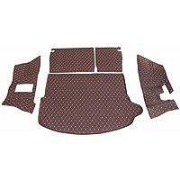 悦恒_大众途昂后备箱垫+靠背垫+侧围垫 全包围全覆盖 无异味 VV耐磨皮革 咖啡色