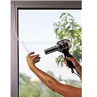 Geko 隔热膜,适用于窗户(包括双面胶带,15M)厘米 150 x 170厘米,透明,包装盒,均码