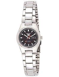 Seiko 女士 5 英尺日本自動不銹鋼休閑手表,顏色:銀色調(型號:SYMC27)