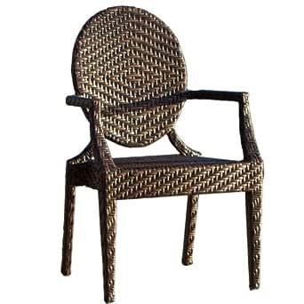 Great Deal Furniture 214147 城镇门柳条户外椅,棕色