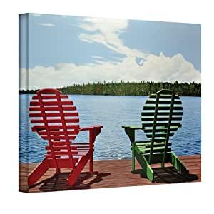 The Art Wall 24 by 32-Inch Dockside Wrapped Canvas by Ken Kirsch