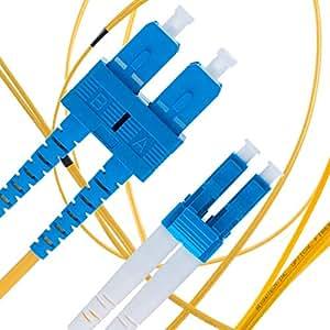 单模光纤接插线 - 双工 - UPC/UPC - 9/125um OS1 多包装 / - Beyondtech PureOptics 电缆系列 LC to SC 1m (3ft)
