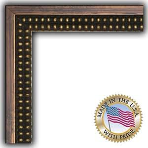 ArtToFrames 12.7 x 58.42/12.7 x 58.42 厘米画框棕色带金珠子 3.18 cm 宽 (2WOMOM80614)