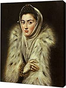 """PrintArt GW-POD-64-374830-9x12""""A Lady In A Fur Wrapped Giclee 油画艺术印刷品 9"""" x 12"""" GW-POD-64-374830-9x12"""