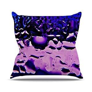 "Kess InHouse Maynard Logan""紫色窗""户外抱枕 16"" x 16"" 紫色 ML1007BOP02"