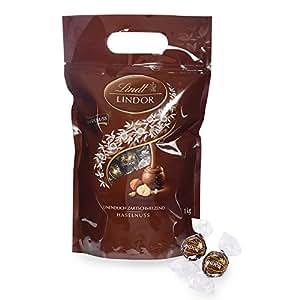 Lindt 瑞士莲 Lindor系列 榛子软心巧克力 80颗, 1kg装
