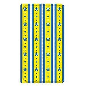 智能手机壳 手册式 对应全部机型 薄型印刷手册 cw-341top 套 手册 花朵条纹 超薄 轻量 UV印刷 壳WN-PR356119-S スマートフォン for ジュニア SH-05E 图案C