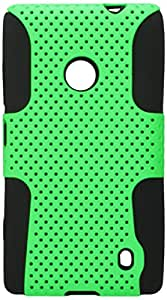 MyBat ASMYNA Astronaut Phone Protector Cover for Nokia Lumia 520 - Retail Packaging - Green/Black