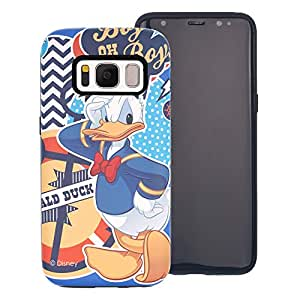 Galaxy S8 Case, DISNEY Cute Donald Duck Layered Hybrid [TPU + PC] Bumper Cover [Shock Absorption] for Samsung Galaxy S8 (5.8inch) - Cartoon Donald Duck