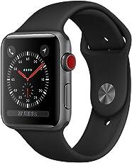 Apple Watch Series 3 智能手表 42mm GPS + 蜂窝网络 深空灰色铝金属表壳 黑色运动型表带 MQQT2CH/A