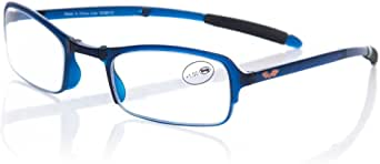 Starlite 中性款成人 Gafas De Lectura 折叠安东尼奥绷带,Azul 光学镜框,蓝色,55