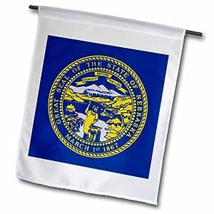 3dRose fl_210376_1 内布拉斯加州旗花园旗,30.48 x 45.72 cm