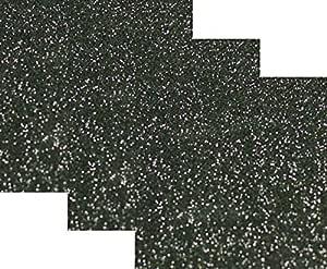25.4 厘米 x 30.48 厘米 (2.54 厘米) 3 张,Siser 闪光熨烫热转印乙烯基 HTV T 恤 黑色 D3P-SIG-BLACK