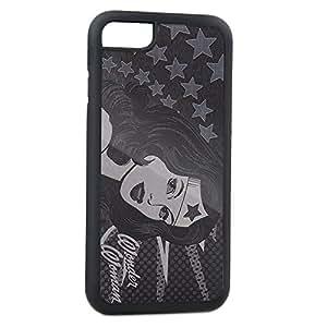 Galaxy S5 带扣手机套 - 带星星的脸拉绒银色 - 神奇女侠CC-WWW-IP6P iPhone6 Plus 神奇女侠