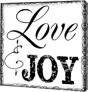 "PrintArt GW-POD-23-TG-SQ-158A-12x12""LOVE AND JOY"" 来自 Taylor Greene 画廊装裱艺术微喷油画艺术印刷品,30.48 cm x 30.48 cm"