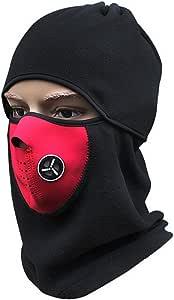 ZOIZLLA Balaclava 滑雪面罩,男式冬季摩托车面罩,寒冷天气保暖雪面罩,战术面罩,滑雪板头饰 - 羊毛 均码 颜色 1 BK518-M-01