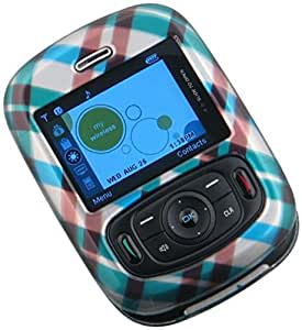 C&E Cricket TXTM8 Phone Protector Case with Optional Belt Clip - Non-Retail Packaging - Blue Plaid
