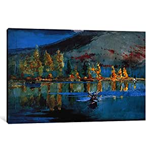 iCanvasART 1241-1PC3-12x8 An October Day 1889 Canvas Print by Winslow Homer, 0.75 x 12 x 8-Inch