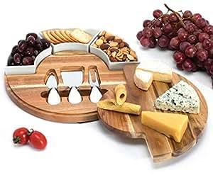 Shanik 奶酪板 Round- 1 drawer/3 ceramic bowls 4347782123