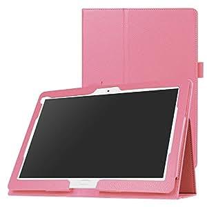 MAMA Mouth PU 皮革对开式2-folding stand 套适用于华为荣耀 waterplay 英寸 Android 平板电脑 粉色