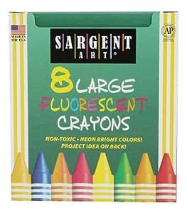 Sargent Art 22-0551 8-大号蜡笔,鸭子盒和荧光色